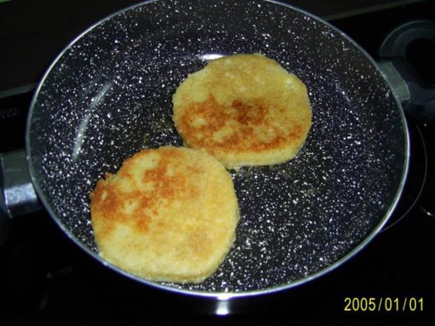 Ohne Fleisch: panierte Sellerie-Schnitzel & Rucolasalat - Rezept - Bild Nr. 3