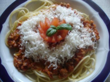 Spaghetti mit schneller Sauce - Rezept
