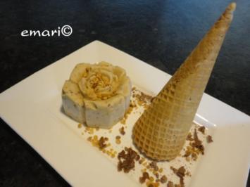 Karamell-Nougat-Krokant Eis - Rezept