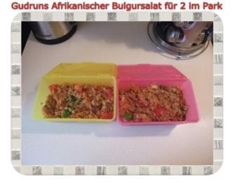 Rezept: Salat: Afrikanischer Bulgursalat für 2 im Park
