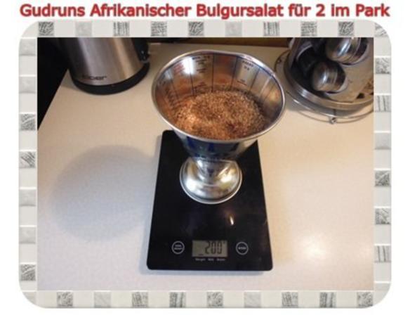 Salat: Afrikanischer Bulgursalat für 2 im Park - Rezept - Bild Nr. 2