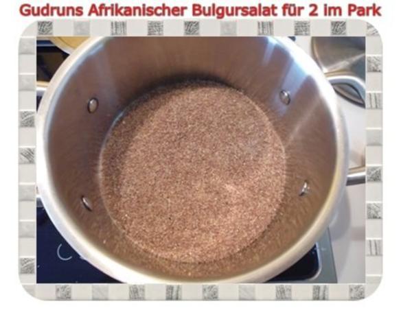 Salat: Afrikanischer Bulgursalat für 2 im Park - Rezept - Bild Nr. 3