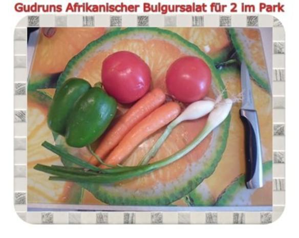 Salat: Afrikanischer Bulgursalat für 2 im Park - Rezept - Bild Nr. 4