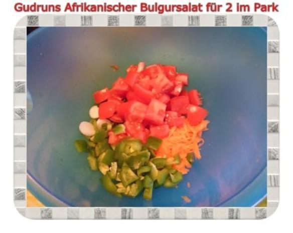 Salat: Afrikanischer Bulgursalat für 2 im Park - Rezept - Bild Nr. 6