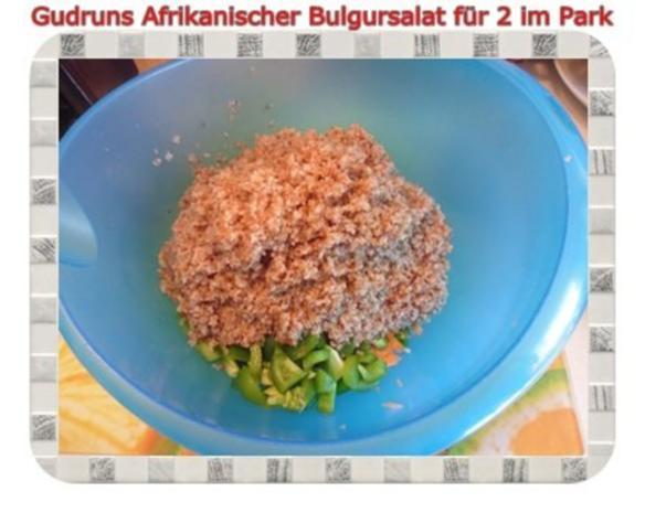 Salat: Afrikanischer Bulgursalat für 2 im Park - Rezept - Bild Nr. 7
