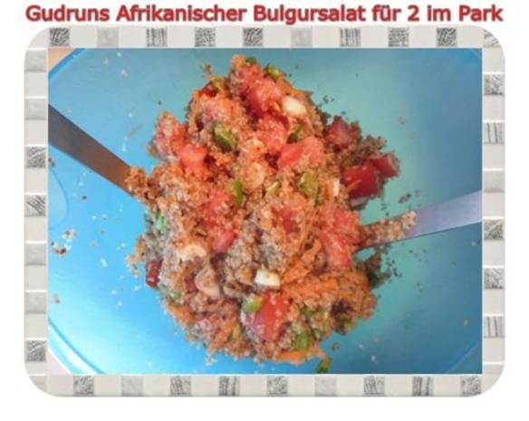 Salat: Afrikanischer Bulgursalat für 2 im Park - Rezept - Bild Nr. 8