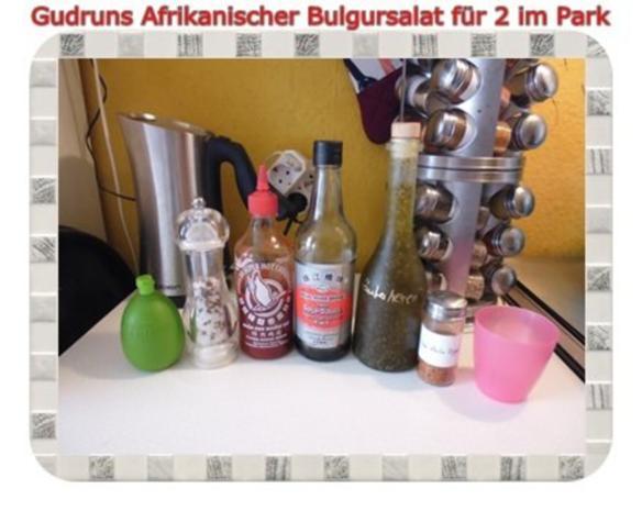 Salat: Afrikanischer Bulgursalat für 2 im Park - Rezept - Bild Nr. 9