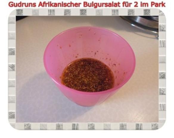 Salat: Afrikanischer Bulgursalat für 2 im Park - Rezept - Bild Nr. 10