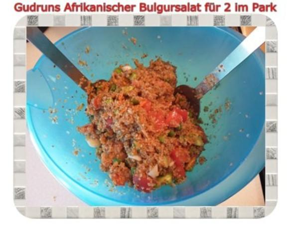 Salat: Afrikanischer Bulgursalat für 2 im Park - Rezept - Bild Nr. 11