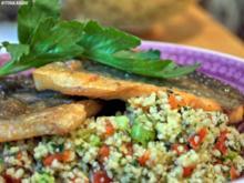 Bachsaibling auf Tabouleh - Rezept