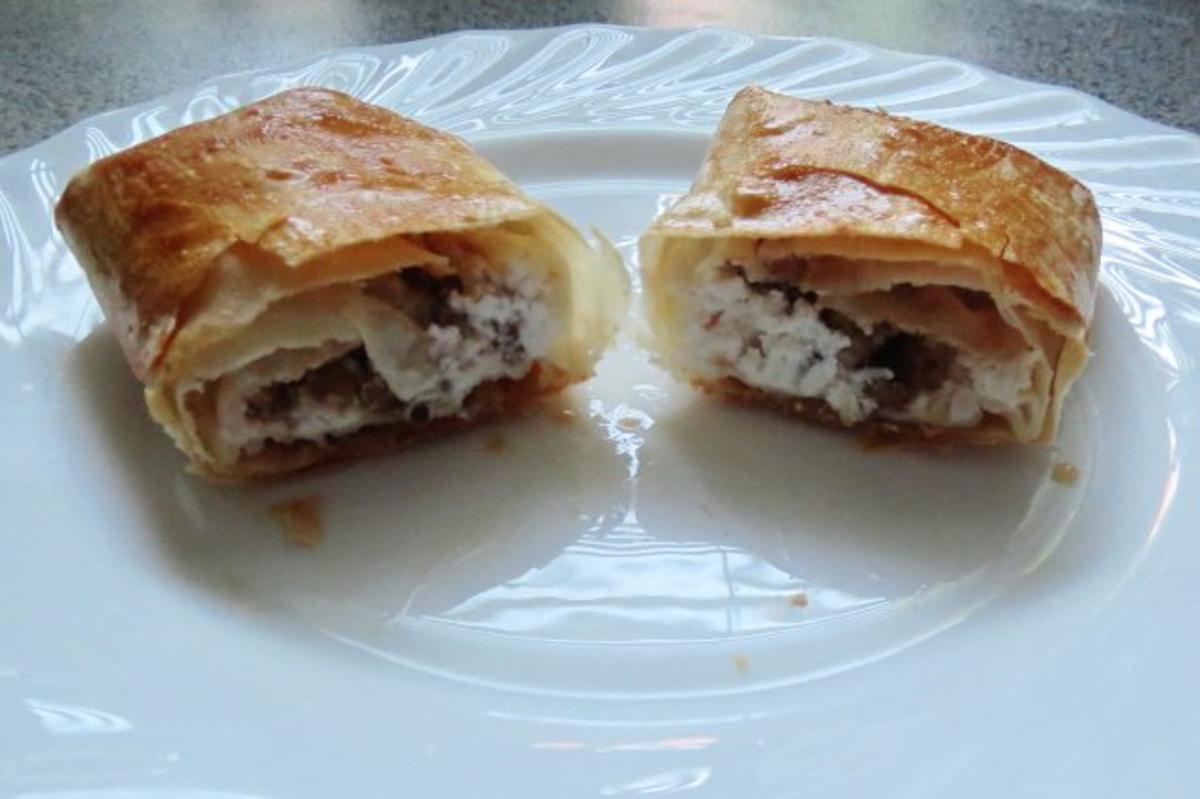 Vorspeise: Börek mit Ziegenkäse und Walnüssen - Rezept Von Einsendungen rainbow3
