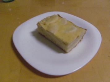 Apfelkuchen mit Vanille- Schmandüberzug - Rezept