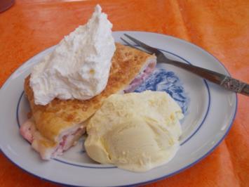 Kuchen - Erdbeerrolle - Rezept