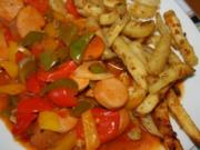 Currywurstgulasch - Rezept