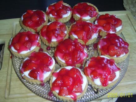 Kuchen: Erdbeer-Torteletts für das Kaffeekränzchen - Rezept
