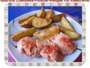 Kartoffeln: Chakalaka Potatoe-Wedges mit Käsedipp - Rezept