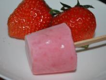Erdbeer-Joghurt-Eis am Stiel - Rezept