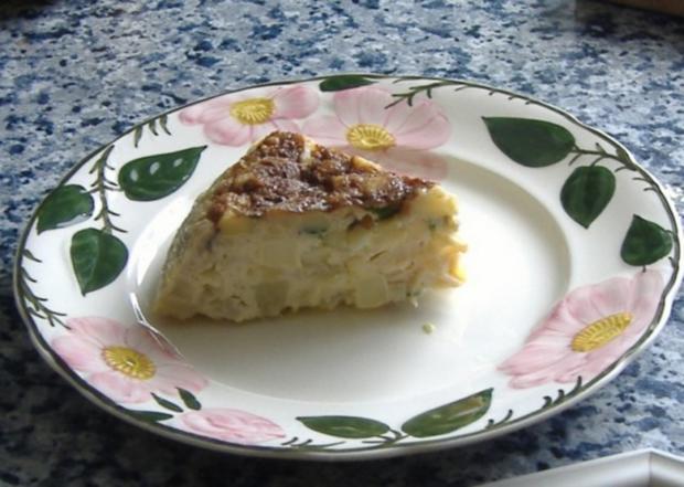 Tortilla mit Spargel,Kartoffeln und Basilikum - Rezept