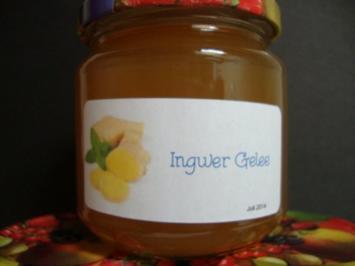 Ingwergelee - Rezept