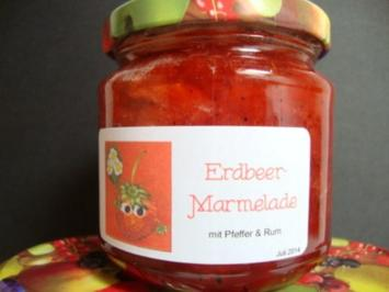 Rezept: Erdbeermarmelade mit Pfeffer und Rum