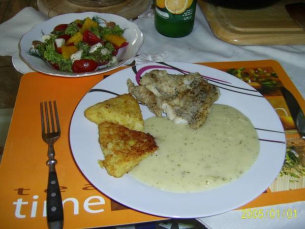 Fisch: Dorschfilet mit Kartoffelecken.... - Rezept