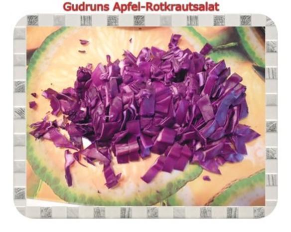 Salat: Apfel-Rotkrautsalat - Rezept - Bild Nr. 3