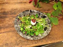 Erdesbacher Ziegenkäse mit Feigen und Wildkräutersalat - Rezept