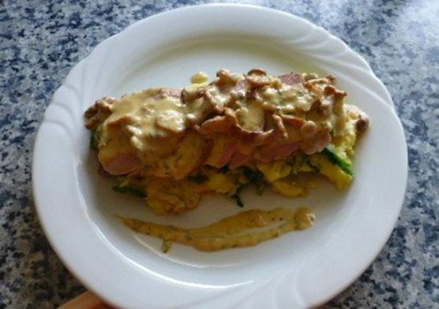 Schweinefilet mit Kartoffel-Rucola-Stampf und Pfifferlingen - Rezept