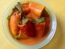 Gefüllte Paprika mit Frischkäse - Rezept