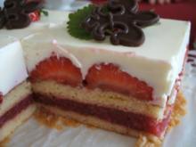 Backen: Erdbeerschnitten für Figurbewusste - Rezept