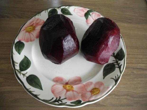 Vegan : Rote Bete Carpaccio mit Zwiebeln - Rezept - Bild Nr. 3