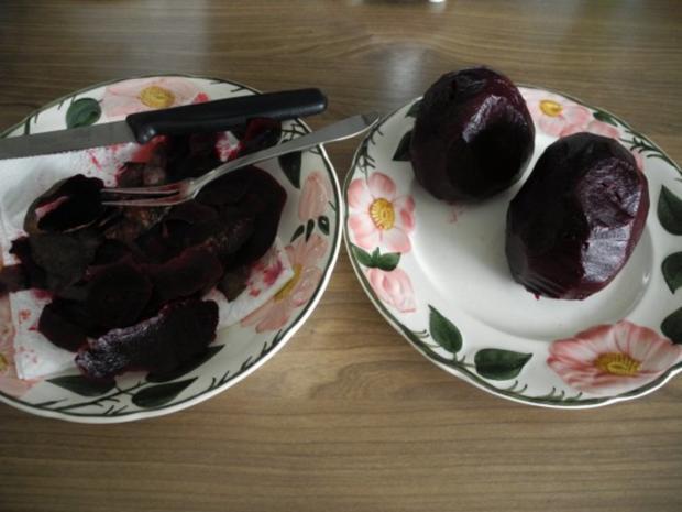 Vegan : Rote Bete Carpaccio mit Zwiebeln - Rezept - Bild Nr. 2