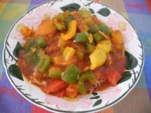 Vegan : Paprika - Gulasch - Rezept