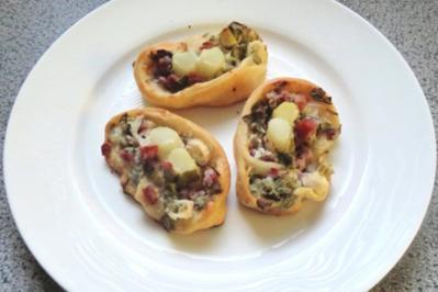 Zwischensnack: Frühlings-Flammkuchen-Schnecken - Rezept