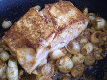 scharfer Curry - Lachs - Rezept