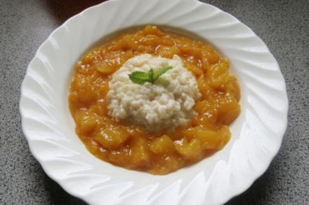 Dessert: Milchreis mit Mangokompott - Rezept