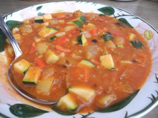 Vegan : Bunte Gemüse - Pfanne gedünstet - die nächste - Rezept - Bild Nr. 2