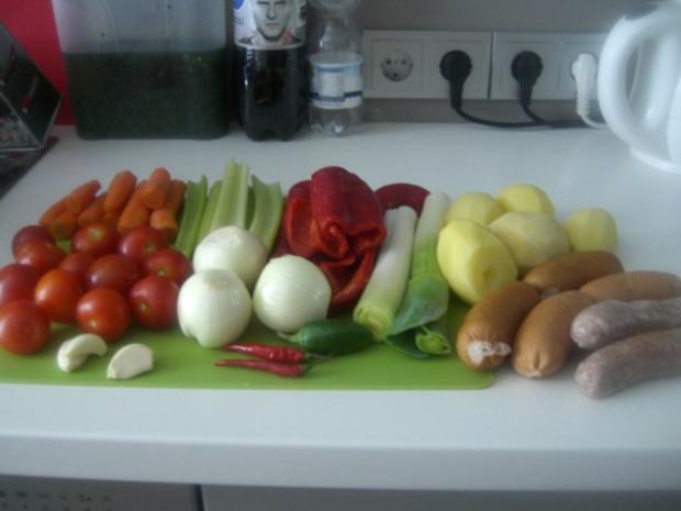 Gemüse-Rahm-Gulasch, scharf - Rezept - Bild Nr. 6