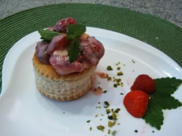 Süße Erdbeer- Pastetchen - Rezept