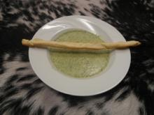 Kräuterschaumsüppchen mit Grissini - Rezept