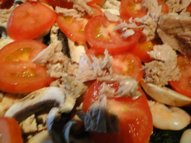 Traumpizza mit allen Köstlichkeiten die ich mag. Bitte durchlesen - Rezept - Bild Nr. 14