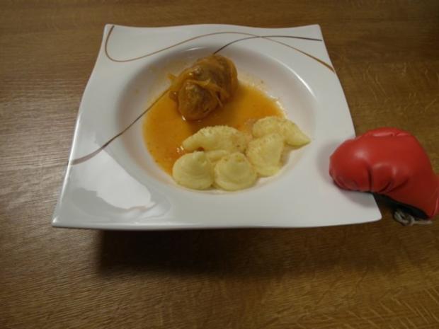 Sarma mit Kartoffelpüree - Rezept