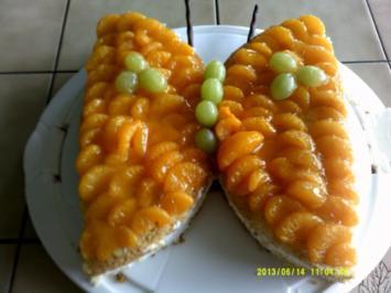 Mandarinen-Quark- Schmetterling - Rezept
