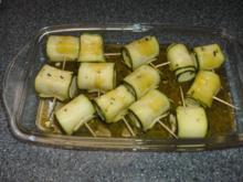 Zucchini - Käse - Spieße - Rezept