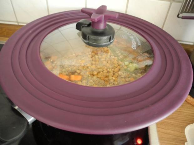 Vegan : Grüne und gelbe Erbsen - Suppe - Rezept - Bild Nr. 7