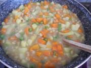 Vegan : Grüne und gelbe Erbsen - Suppe - Rezept