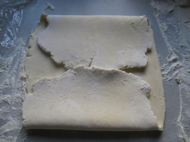Käsestangen aus selbstgemachtem Quarkblätterteig - Rezept - Bild Nr. 5
