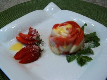 Erdbeer- Vanille- Eis - Rezept