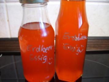 Vorrat: Erdbeeressig - Rezept