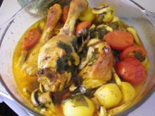Geflügel: Hähnchen nach Urlaubsart - Rezept